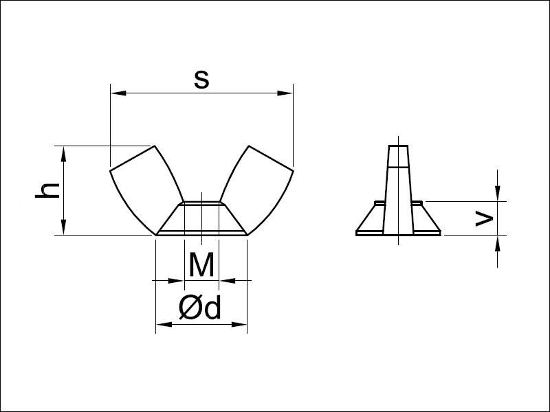 Thin Nut Dimensions Metric