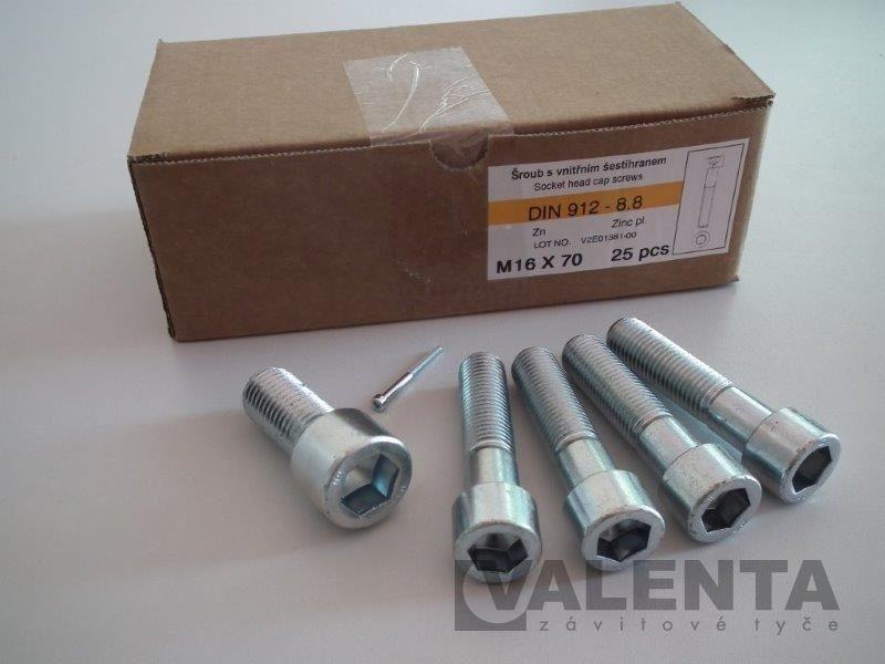 50 x  Zylinderschrauben mit Innensechskant DIN 912 12.9 M 10 x 170