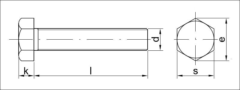 Hex bolts DIN 931 and screws DIN 933 - Valenta ZT s r o