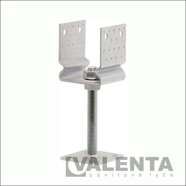 screw pole anchors with plate
