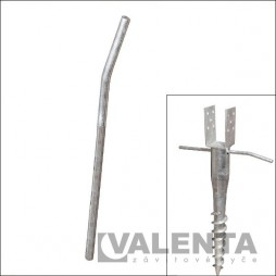 fastening rod for ground screw